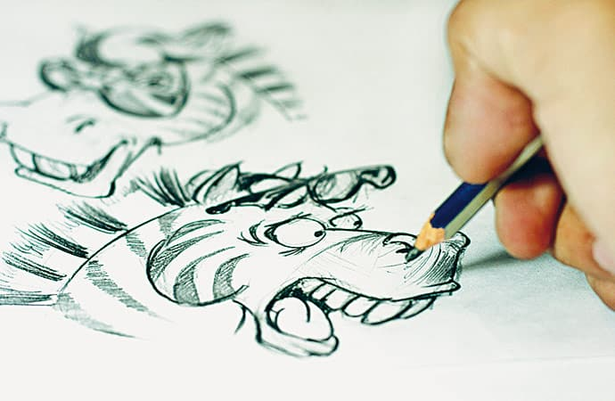 Image réalisation-dessin Bande Dessinée Classe de découverte Côté Découvertes