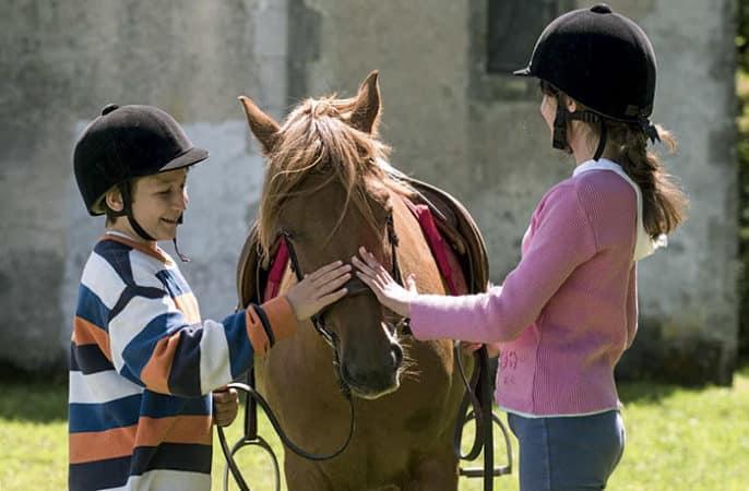 Image Equitation-nature Classe de découverte Côté Découvertes