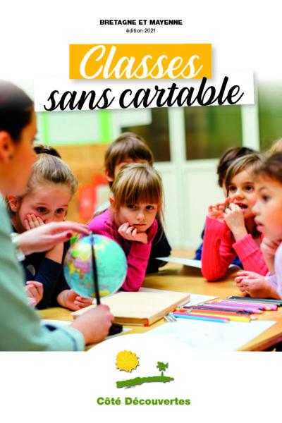 Image de couverture - Classes sans cartable - Bretagne et Mayenne - Cote découvertes - Nouveautés 2021