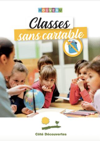 Image de couverture - Classes sans cartable - IDF - Cote découvertes - Nouveautés 2021